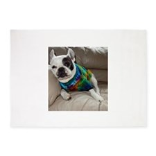 French Bulldog Tie Dye 5'x7'Area Rug