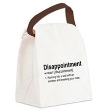 Disappointment Definition Canvas Lunch Bag
