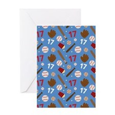 Baseball Number 17 Greeting Card