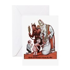St. Nick & The Krampus Greeting Cards