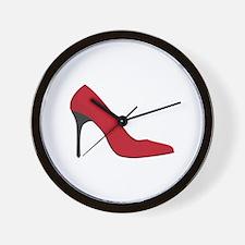 Red Shoe Wall Clock