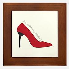 I Wear Heels Framed Tile