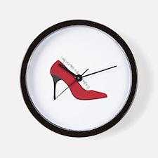 I Wear Heels Wall Clock