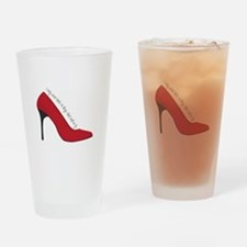 I Wear Heels Drinking Glass