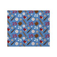 Baseball Number 25 Throw Blanket