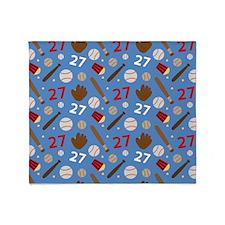 Baseball Number 27 Throw Blanket