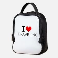I Love Traveling Neoprene Lunch Bag
