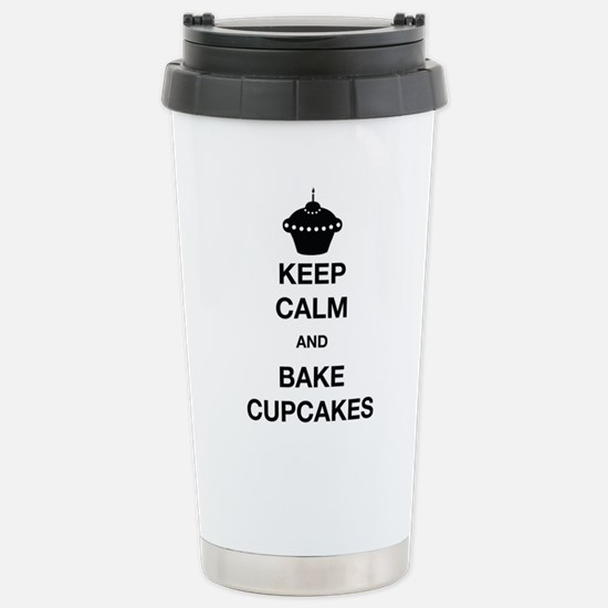 Keep Calm and Bake Cupc Stainless Steel Travel Mug