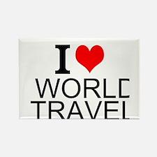 I Love World Travel Magnets