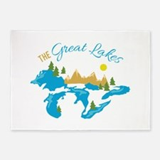 The Great Lakes 5'x7'Area Rug