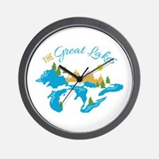 The Great Lakes Wall Clock