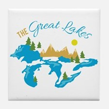 The Great Lakes Tile Coaster