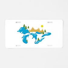 Midwest Caravan Aluminum License Plate