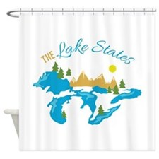 The Lake States Shower Curtain