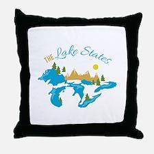 The Lake States Throw Pillow