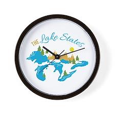 The Lake States Wall Clock