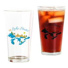 The Lake States Drinking Glass