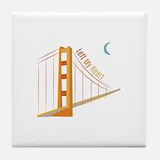 Left My Heart Tile Coaster