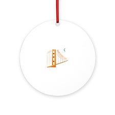 Great Golden Gate Ornament (Round)