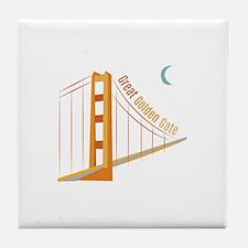 Great Golden Gate Tile Coaster