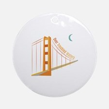 Troubled Waters Ornament (Round)