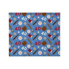 Baseball Number 40 Throw Blanket