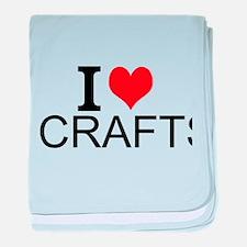 I Love Crafts baby blanket