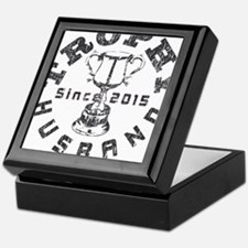 Trophy Husband Since 2015 Keepsake Box