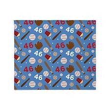 Baseball Number 46 Throw Blanket