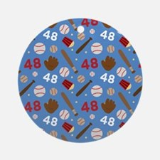 Baseball Number 48 Ornament (Round)