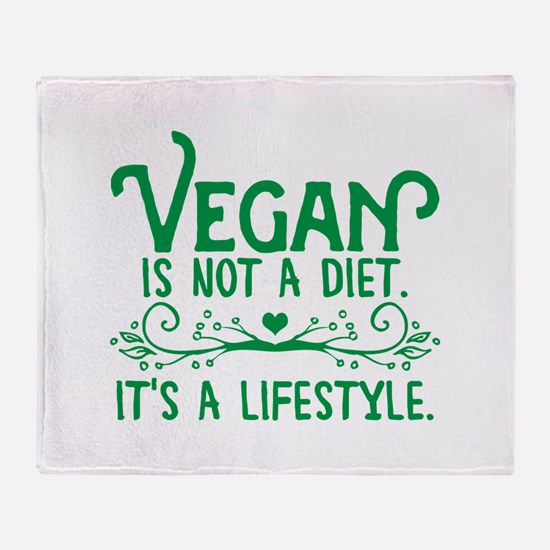 Vegan is Not a Diet Throw Blanket