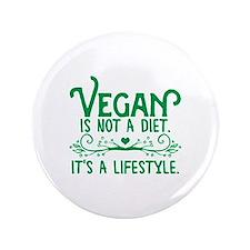 """Vegan is Not a Diet 3.5"""" Button"""