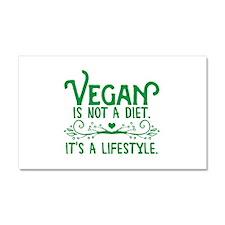 Vegan is Not a Diet Car Magnet 20 x 12