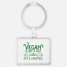 Vegan is Not a Diet Landscape Keychain