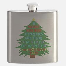 Funny Bah Humbug Christmas Poem Flask