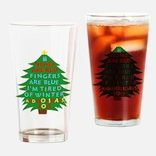 Funny Bah Humbug Christmas Poem Drinking Glass