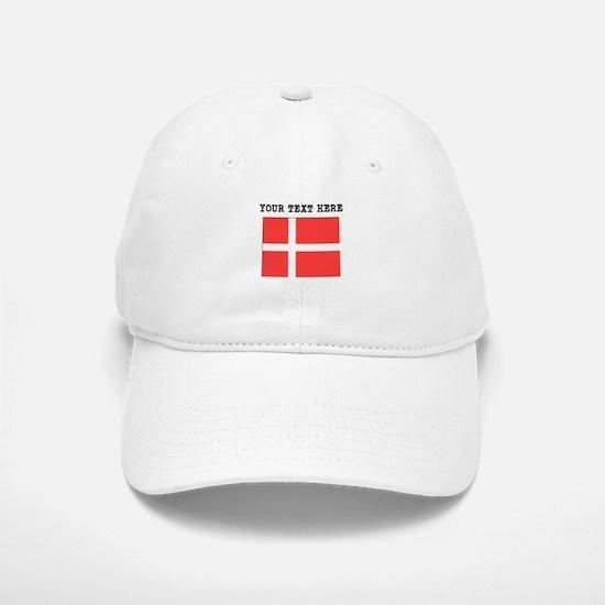 Custom Denmark Flag Baseball Baseball Baseball Cap