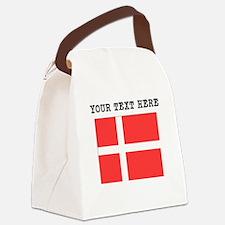 Custom Denmark Flag Canvas Lunch Bag