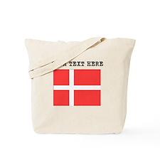 Custom Denmark Flag Tote Bag