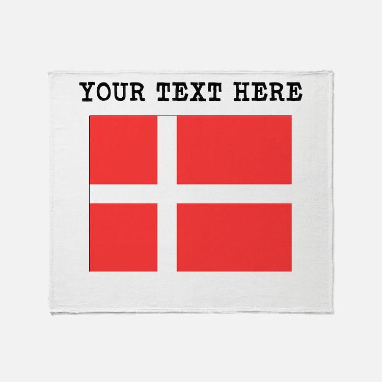 Custom Denmark Flag Throw Blanket