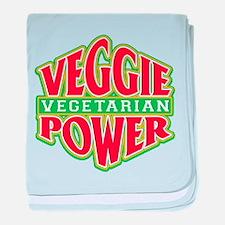 Veggie Power Vegetarian baby blanket