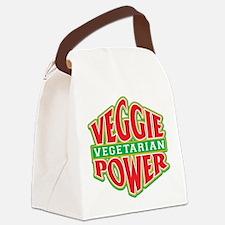 Veggie Power Vegetarian Canvas Lunch Bag