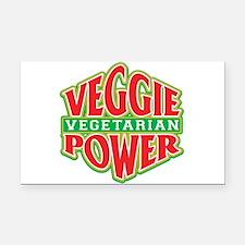 Veggie Power Vegetarian Rectangle Car Magnet