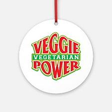 Veggie Power Vegetarian Ornament (Round)
