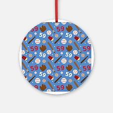 Baseball Number 59 Ornament (Round)
