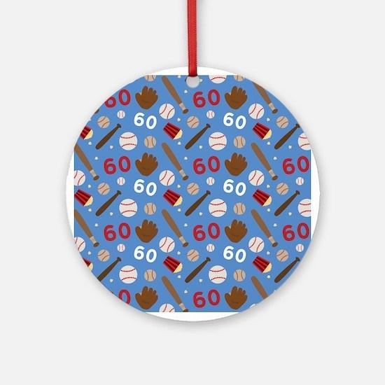 Baseball Number 60 Ornament (Round)