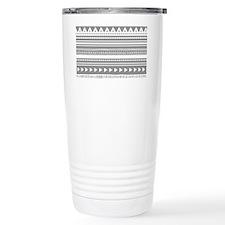 Grey White Tribal Vinta Travel Mug