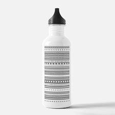 Grey White Tribal Vint Water Bottle