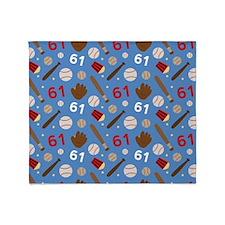 Baseball Number 61 Throw Blanket