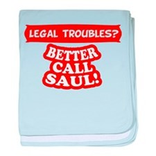 Legal Troubles baby blanket
